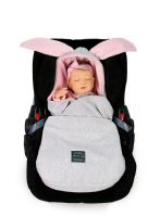 Bunny  Car Seat  Blanket PINK, GREY or BLUE